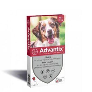 """אמפולה אדוונטיקס לכלב במשקל 25 עד 10 ק""""ג"""