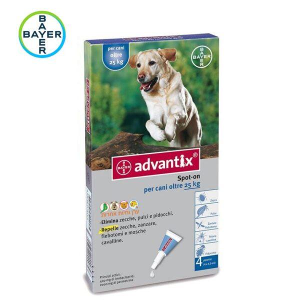 אמפולות אדוונטיקס לכלבים גדולים נגד פרעושים וקרציות