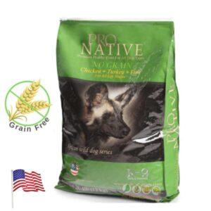 שק מזון לכלבים נטול דגנים של פרו נייטיב
