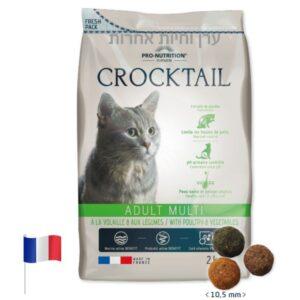 שק מזון לחתולים רגישים עוף וירקות פלטזור קרוקטייל