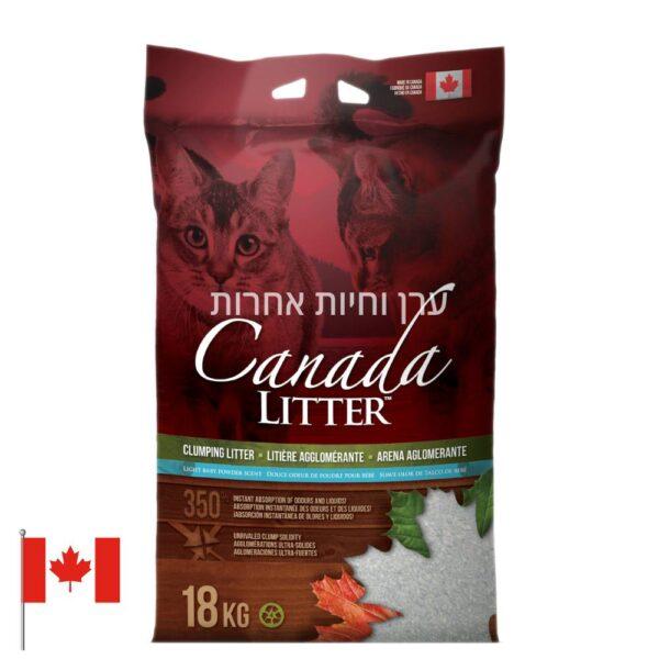 """שק חול קנדה לחתולים במשקל 18 ק""""ג"""