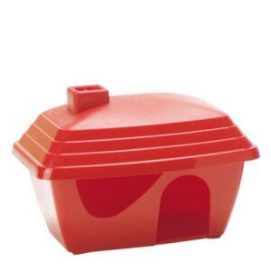בית לאוגרים בצבע אדום