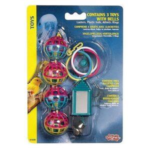 צעצוע סט 3 כדורים לתוכים של Hagen
