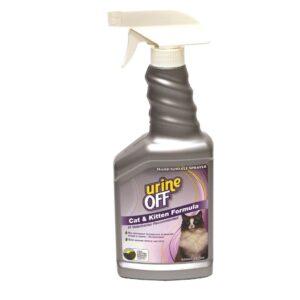 """Urine Off ספריי לסילוק כתמים וריחות שתן של חתולים 500 מ""""ל"""