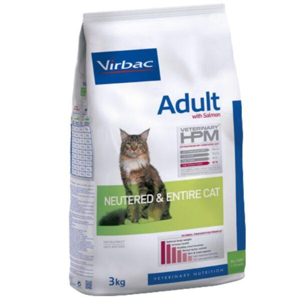 מזון לחתולים בטעם סלמון, וירבק