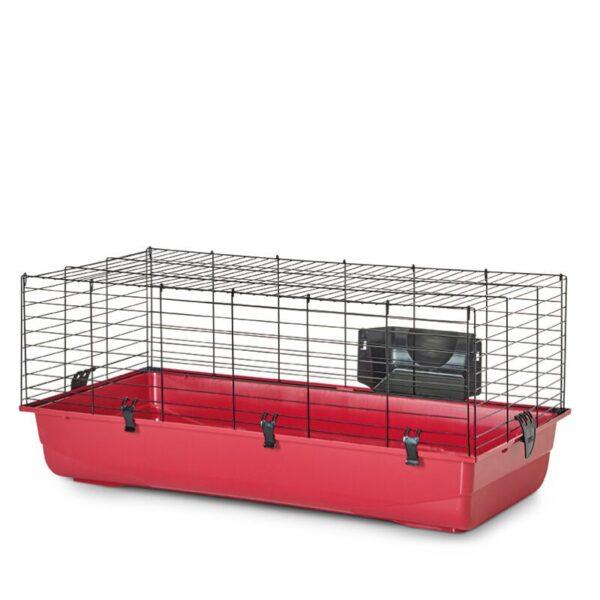 כלוב שמתאים לארנב ננסי בצבע אדום