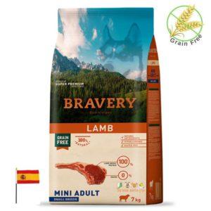 שק מזון לכלבים בטעם כבש, bravery