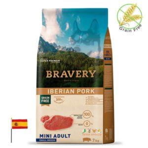 שק מזון לכלבים בטעם חזיר איברי, bravery