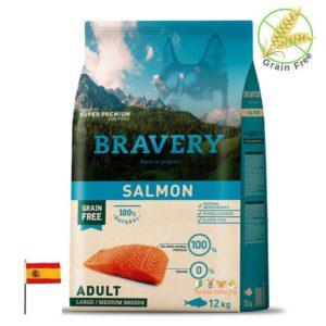 שק מזון לכלבים בטעם סלמון, ברוורי