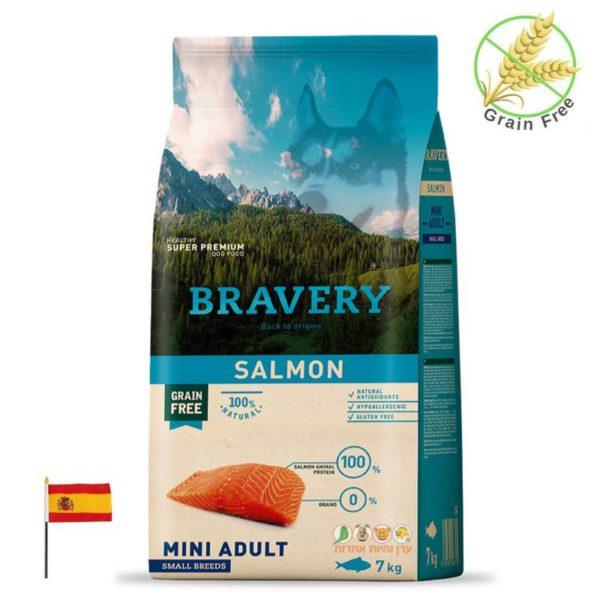 מזון סלמון לכלבים בוגרים מגזע קטן, bravery