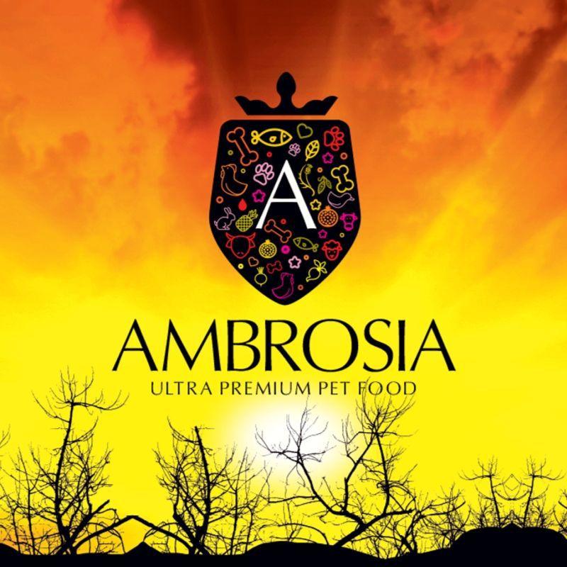 לוגו של חברת אמברוסיה מזון לכלבים