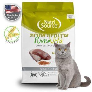שק מזון PUTE VITA לחתולים בטעם בשר ברווז ועדשים