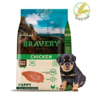 שק מזון ללא דגנים לגורי כלבים מגזע גדול של חברת ברוורי