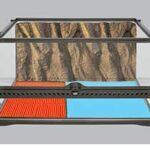 טרריום עם משטח חימום של אקזוטרה