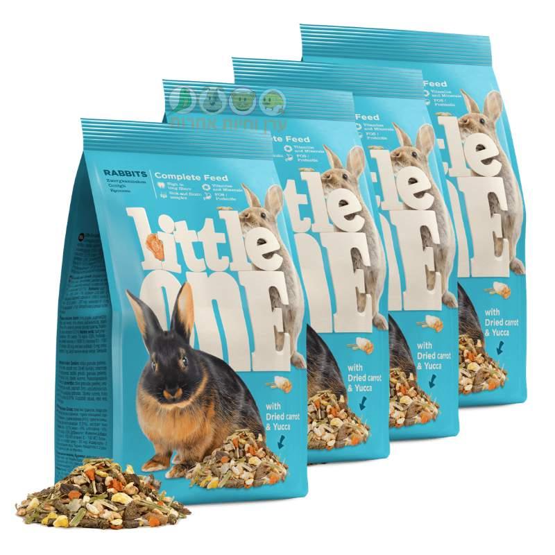 4 חבילות מזון לארנבים במחיר מבצע