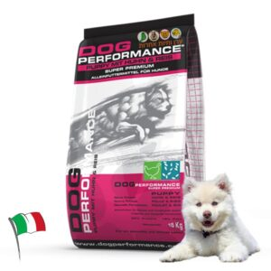 """שק מזון לגורי כלבים דוג פרפורמנס 15 ק""""ג"""