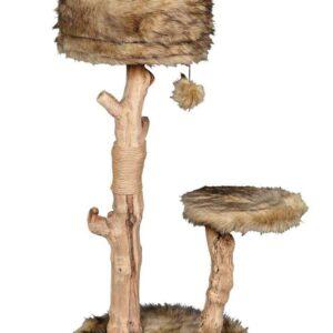 מתקן גירוד איכותי לחתולים עשוי מעץ טבעי של פטקס