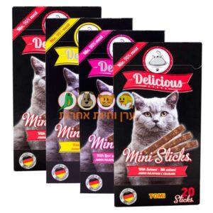 4 אריזות חטיפים לחתולים של חברת TOMI