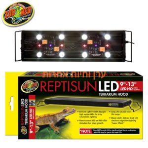 מנורת LED לטרריום באריזה