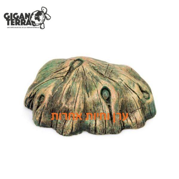 מסתור לזוחלים בטרריום בעצוב קליפת עץ בגודל קטן ג'יג'נטרה