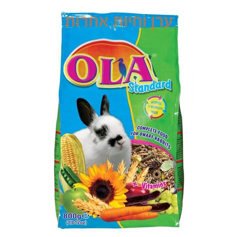 שקית אוכל לארנב ננסי 800 גרם