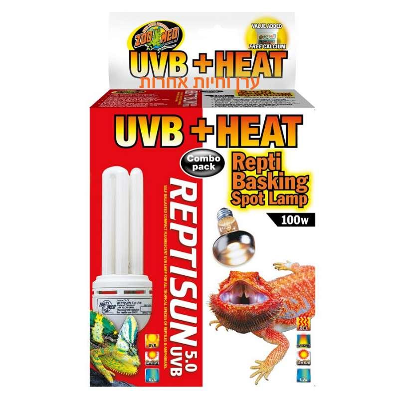 אריזה כפולה של נורות UV לזוחלים