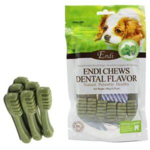 חטיף דנטלי לכלבים בצורת מברשת שיניים