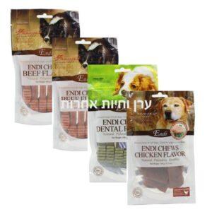 4 חבילות חטיפים דנטלים לכלבים במבצע