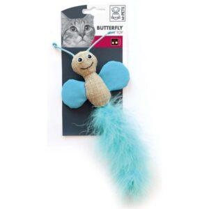 צעצוע לחתולים בצורת פרפר עם נוצה