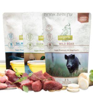 3 חבילות מזון טבעי לכלבים במבצע