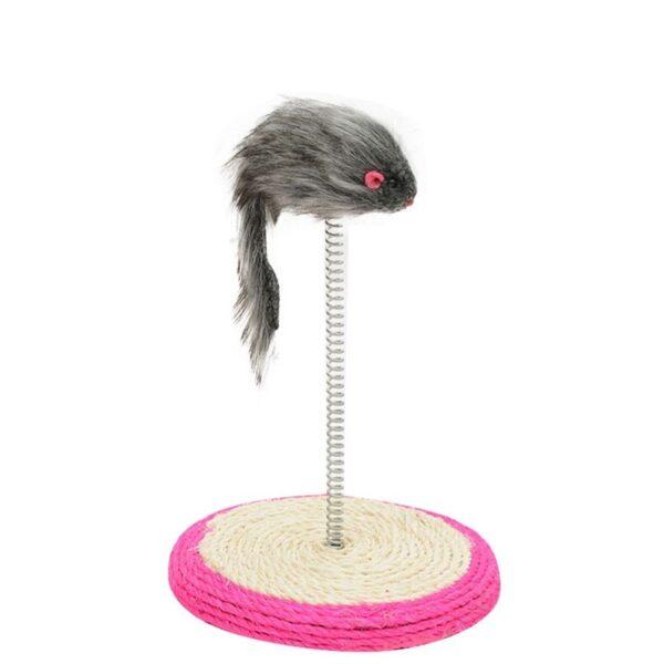 צעצוע לחתולים עכבר עם קפיץ