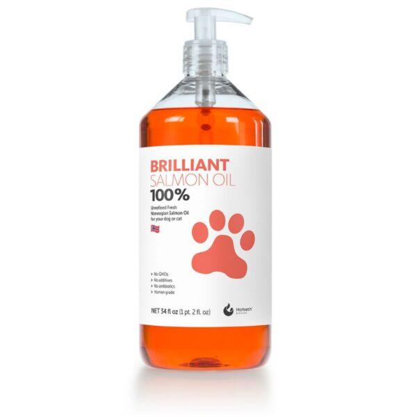 """בקבוק 300 מ""""ל שמן סלמון לא מזוקק לכלבים וחתולים"""