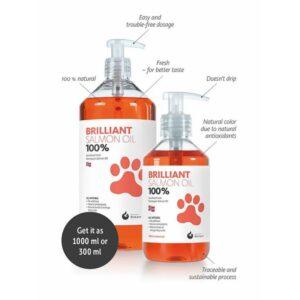 בקבוקי שמן סלמון נורבגי לכלבים וחתולים