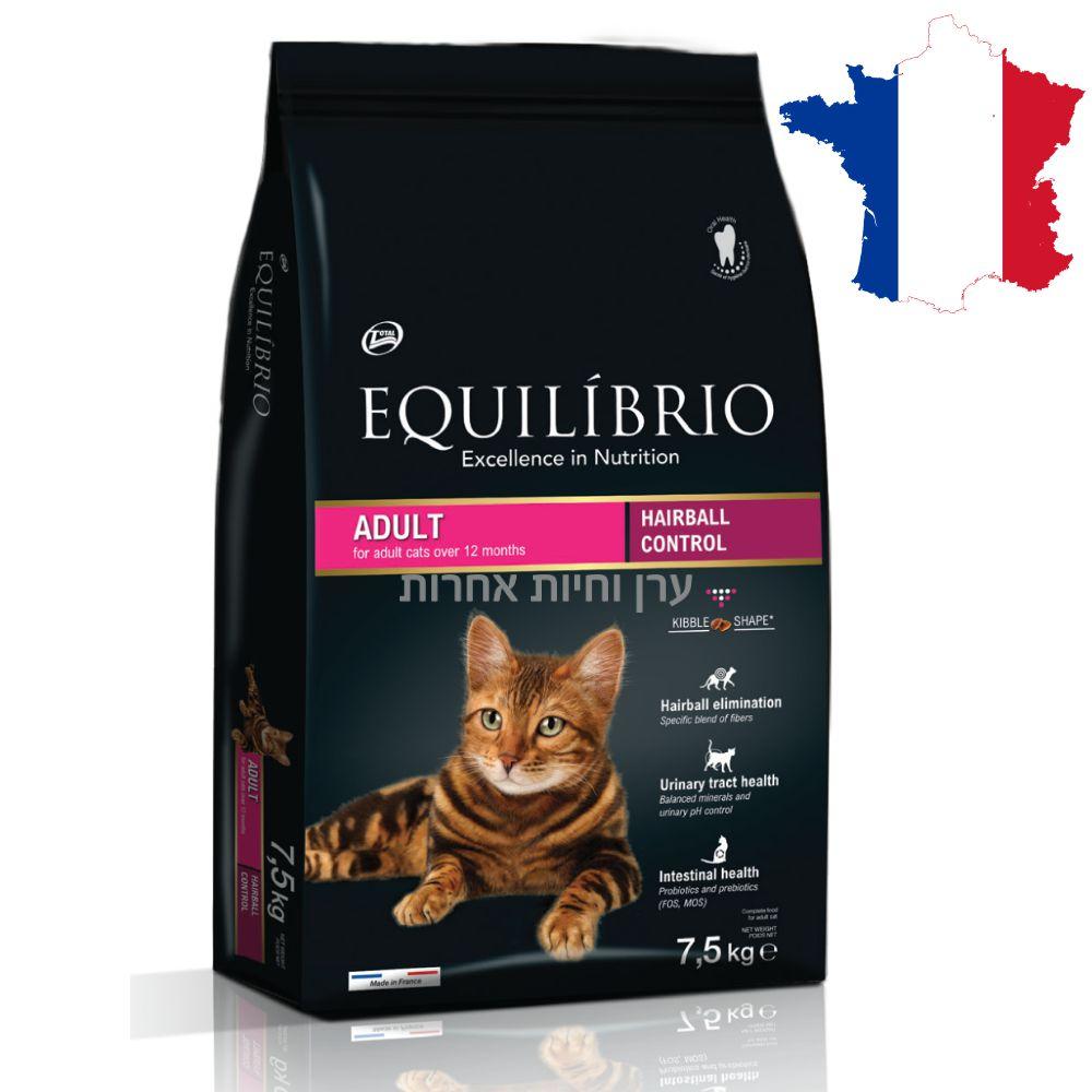 מזון המונע הצטברות כדורי שיער לחתול של EQUILIBRIO