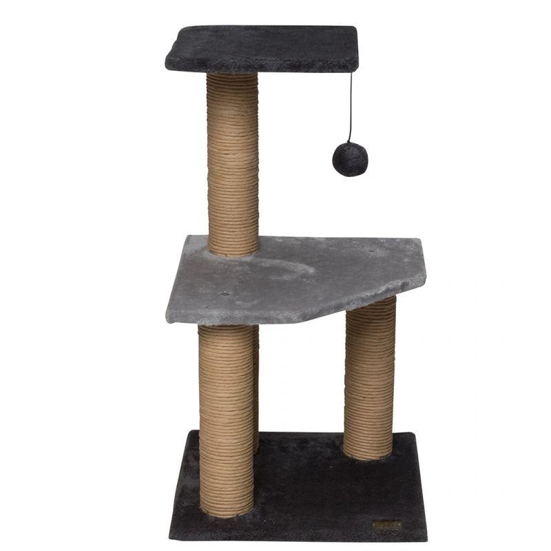 מתקן גירוד לחתולים עם 2 קומות וחבל גירוד