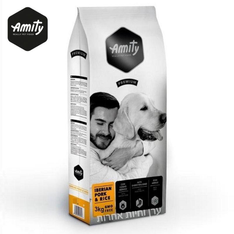 שק מזון לכלבים בטעם בשר חזיר של חברת AMITAY