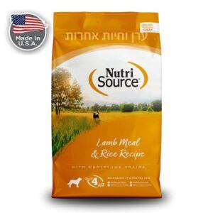 שק מזון לכלב בטעם בשר כבש ואורז של נוטריסורס