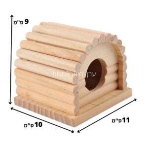 מידות בית עץ למכרסמים