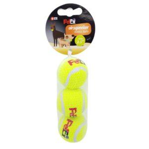 3 כדורי טניס מצפצפים צעצוע לכלב של חברת פטקס
