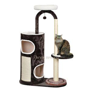 מתקן גירוד לחתולים עם בית מנהרה וחבל גירוד מבית פטקס