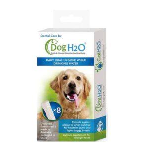 אריזה של 8 טבליות דנטליות לכלבים למזרקת מים H2O