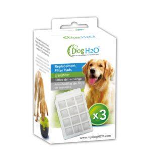 אריזת 3 פילטרים לשימוש במזרקת מים לכלב H2O