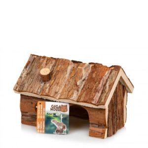 בית עץ מחסה טבעי למכרסמים ג'יג'נטרה