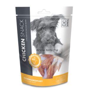 אריזת חטיף לכלב בטעם עוף ועצם קלציום MPETS