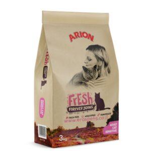 """שק מזון 3 ק""""ג לחתולים עם מערכת עיכול רגישה של אריון"""